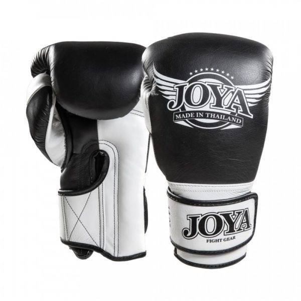 Joya-Kickbokshandschoenen-bangkok-leer-zwart-wit