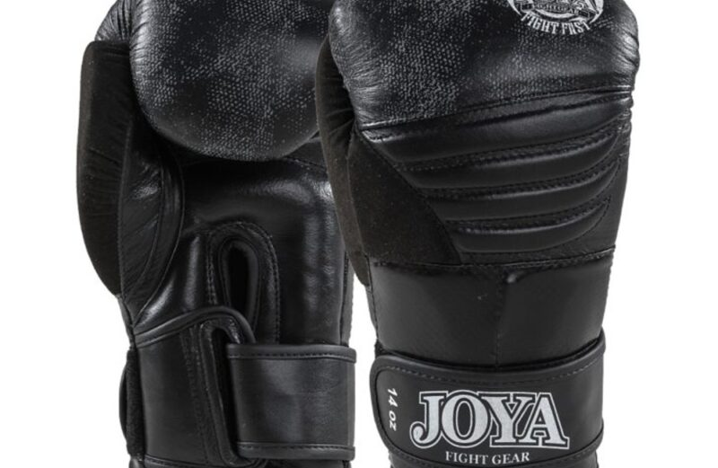 Joya Falcon Kickbokshandschoenen Zwart Leer