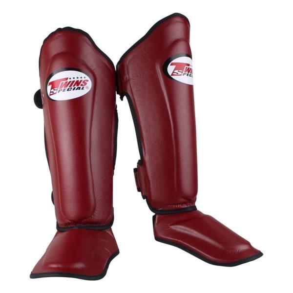 Twins Kickboks scheenbeschermers SGL7 - WINE RED