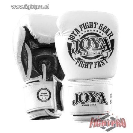 """Joya """"Fight Fast"""" leer bokshandschoenen – WHITE"""