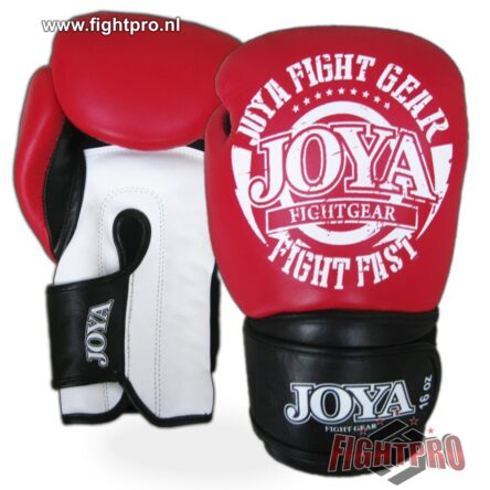 "Joya ""Fight Fast"" leer bokshandschoenen – RED"