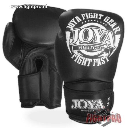 "Joya ""Fight Fast"" leer bokshandschoenen – BLACK"