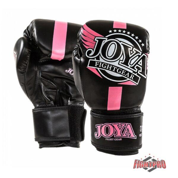 Joya bokshandschoenen junior zwart roze