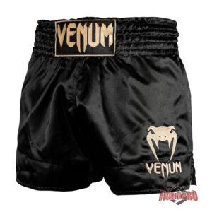 VENUM CLASSIC THAI SHORTS - BLACK-GOLD