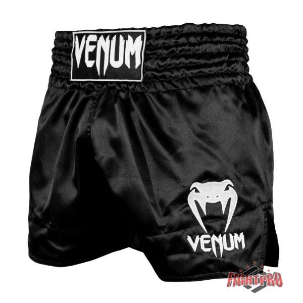 VENUM CLASSIC THAI SHORTS - BLACK-WHITE
