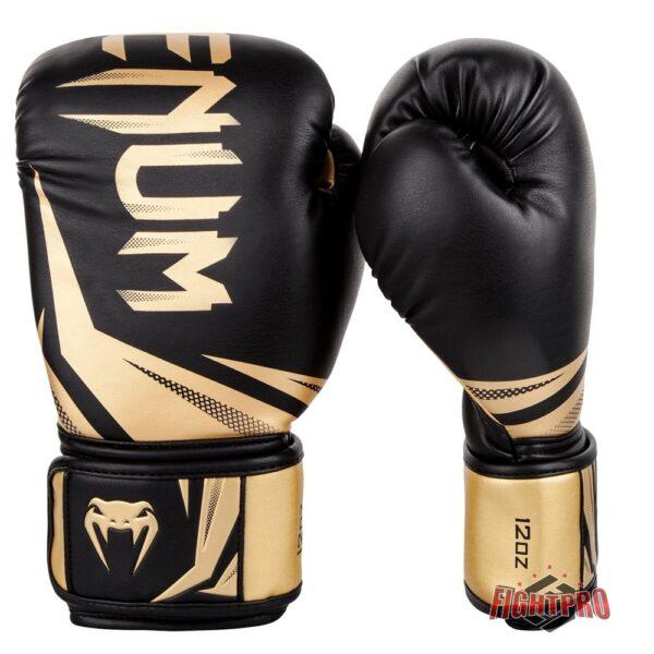 Venum Challenger 3.0 kickbokshandschoenen Boxing Gloves black gold