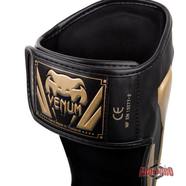Venum Elite Standup Shin guards / scheenbeschermers Black/Gold
